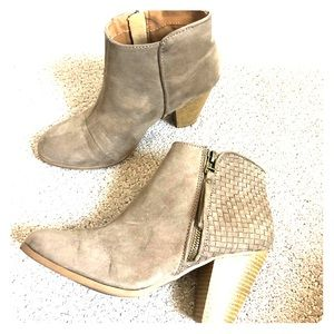 Ankle booties with tassel zipper